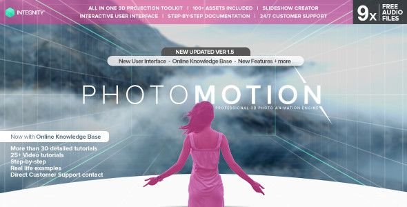 Photomotion 3d Photo Animation Toolkit 5 In 1 3d Photo Photo After Effects Projects