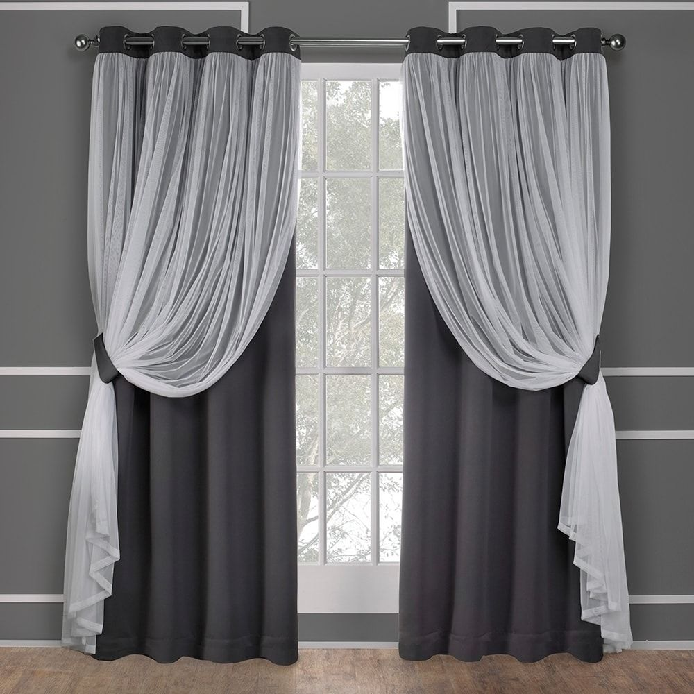 ati home catarina layered blackout and sheer curtain panel pair w rh pinterest com