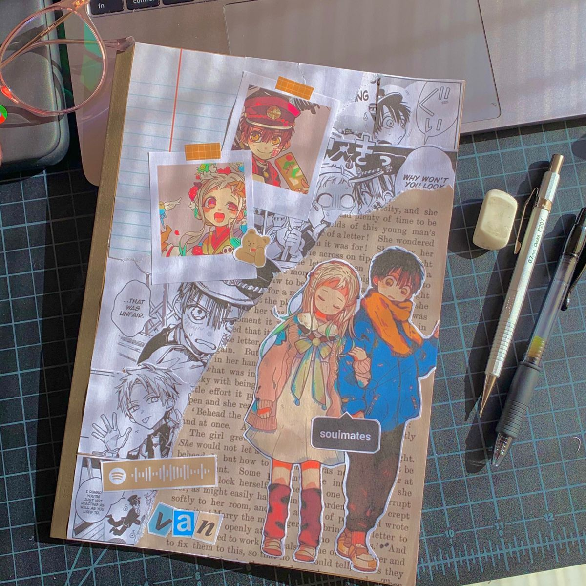 Tbhk Journal Cover 3 Bullet Journal Japan Anime Book Bullet Journal Themes