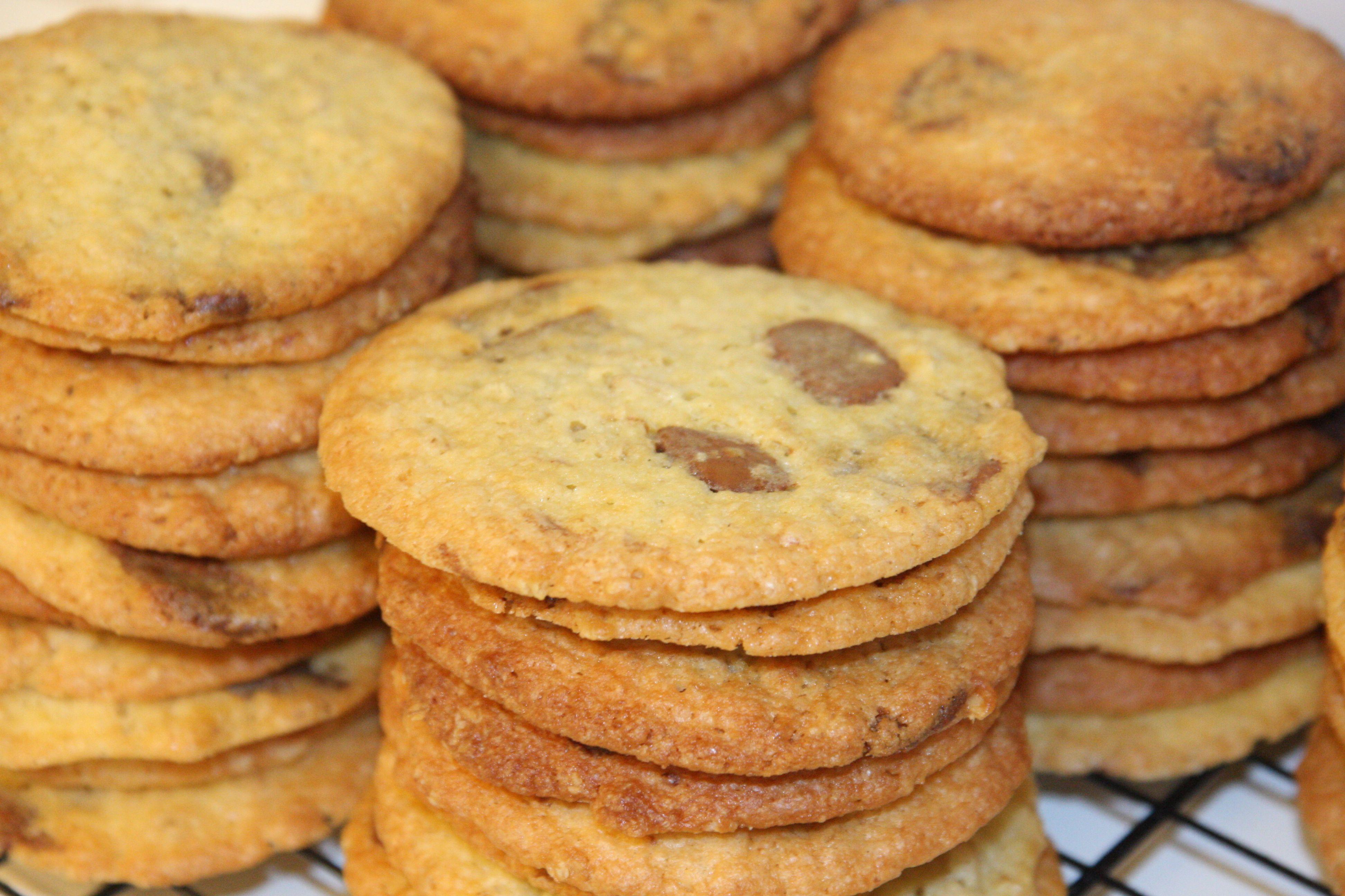 Cookies med havregryn og karamel