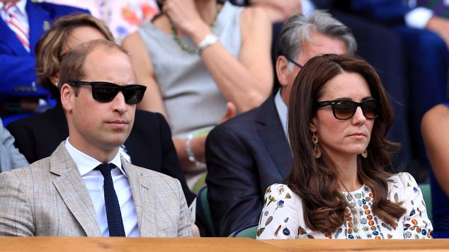 The Duke and Duchess of Cambridge in the royal box...