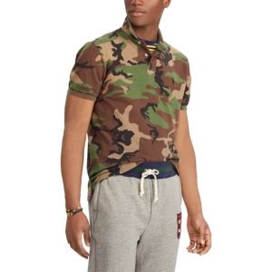 bcba74d1c0 Polo Ralph Lauren Men's Big & Tall Classic Fit Camouflage Cotton Polo -  Green XLT