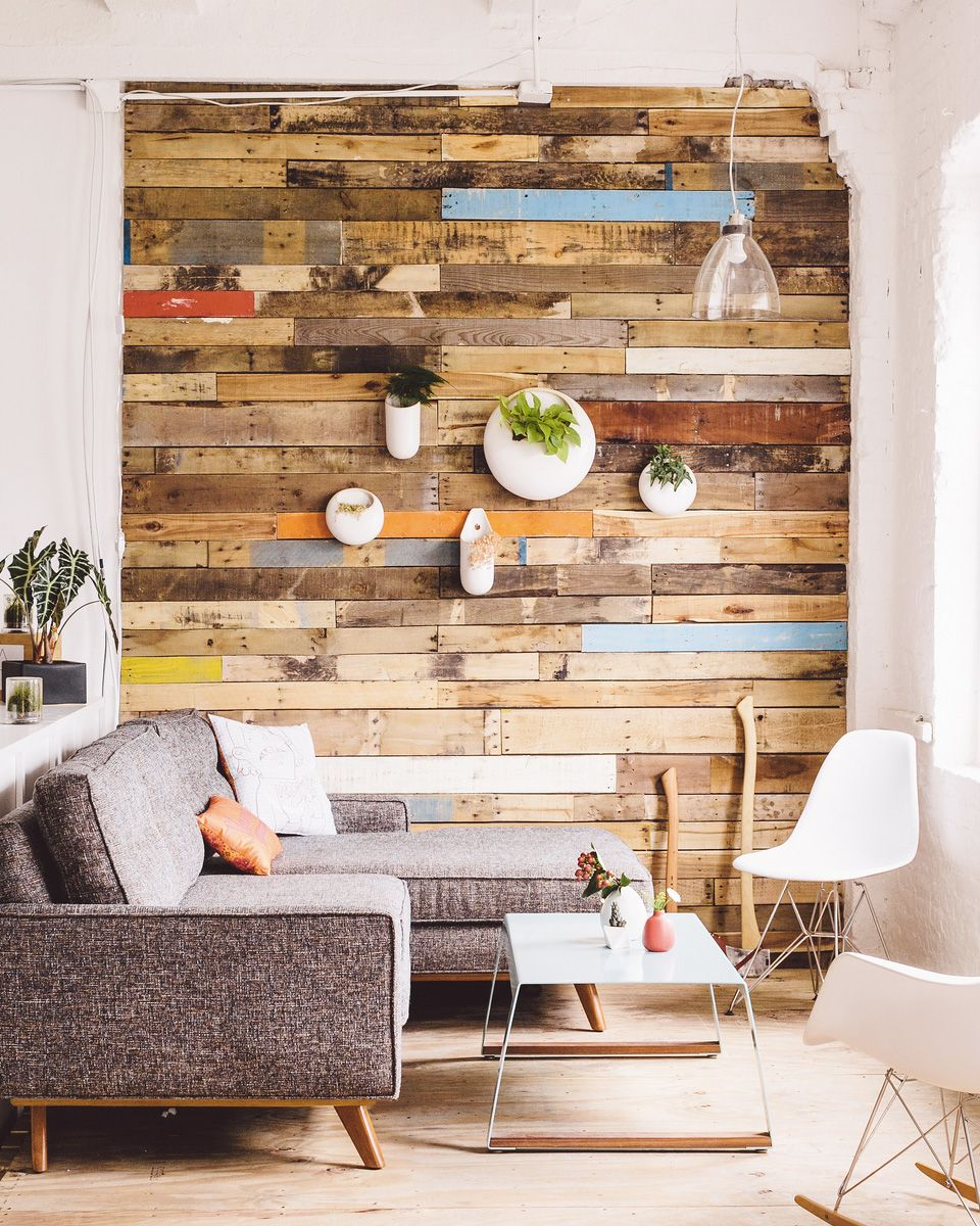 idée deco mur bois   Idee deco petit salon, Deco petit salon, Deco mur