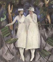 Arnold Brügger - Im Garten (Zwei Mädchen)