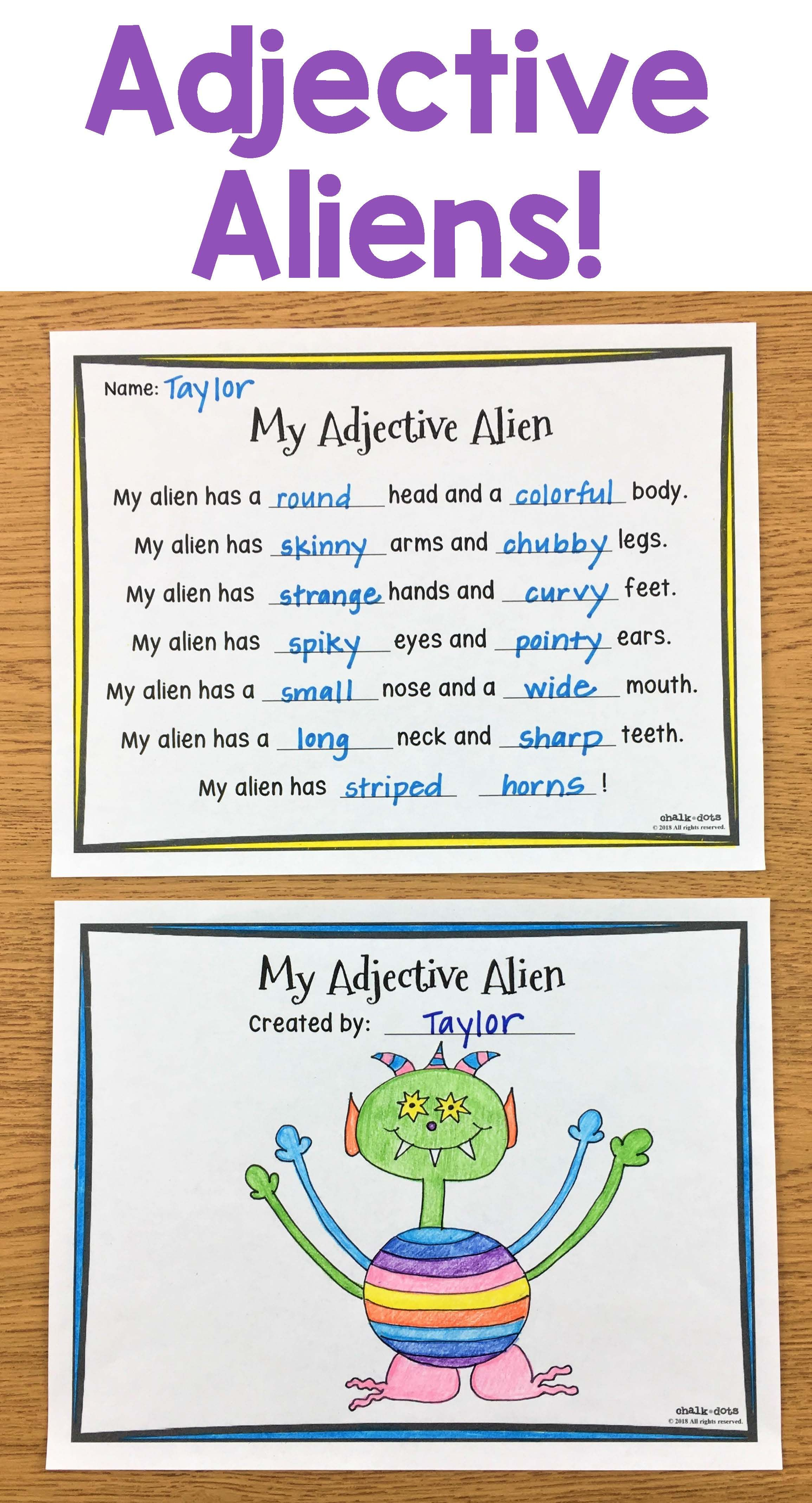 This Is A Perfect Language Arts Packet For Teaching Your Students About Adjectives Not Only Does I Adjectives Activities Teaching Adjectives Adjectives Lesson Nouns and adjectives worksheet ks1