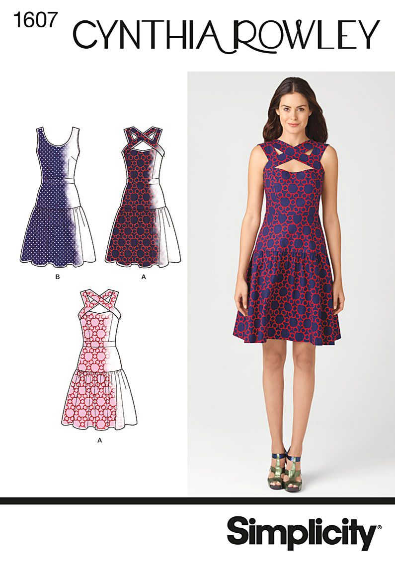 S1607 Misses\' Dress Cynthia Rowley Collection Simplicity Pattern ...