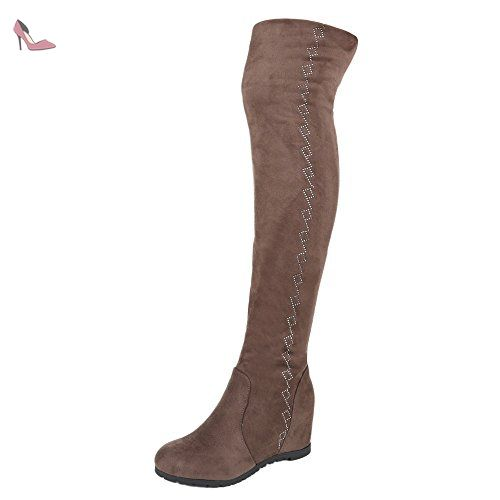 Ital Classiques 38 Taille Design Marron Femme Bottes Sable rqrUFp