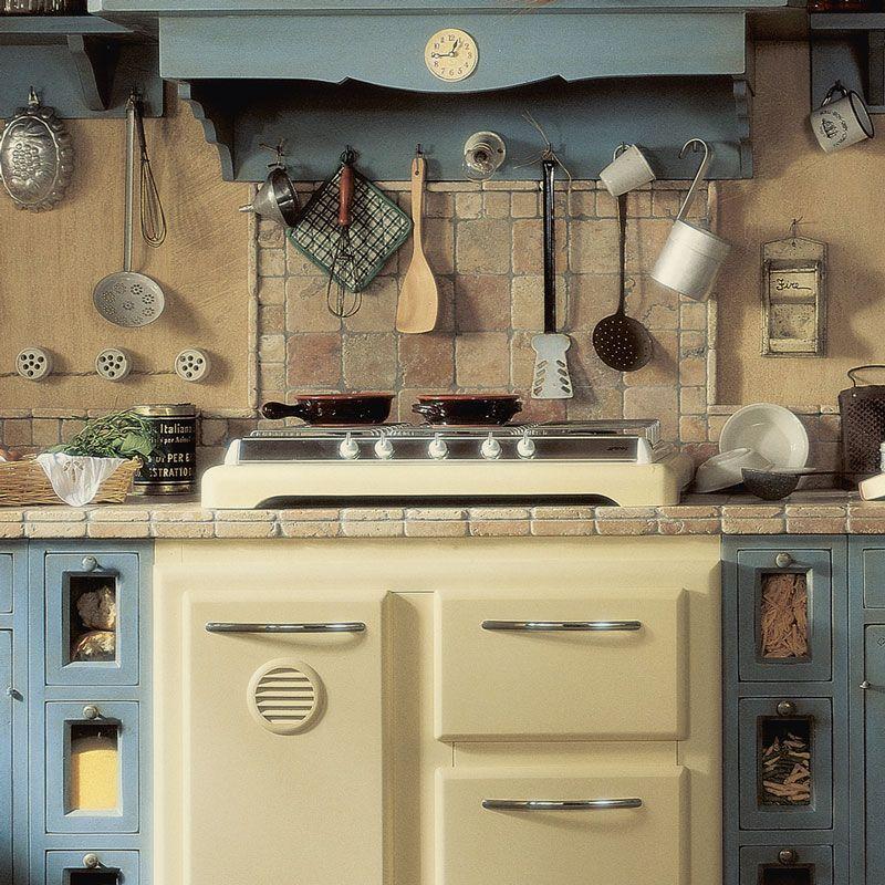 La Cucina Doria, cucina componibile country con dettagli vintage si ...