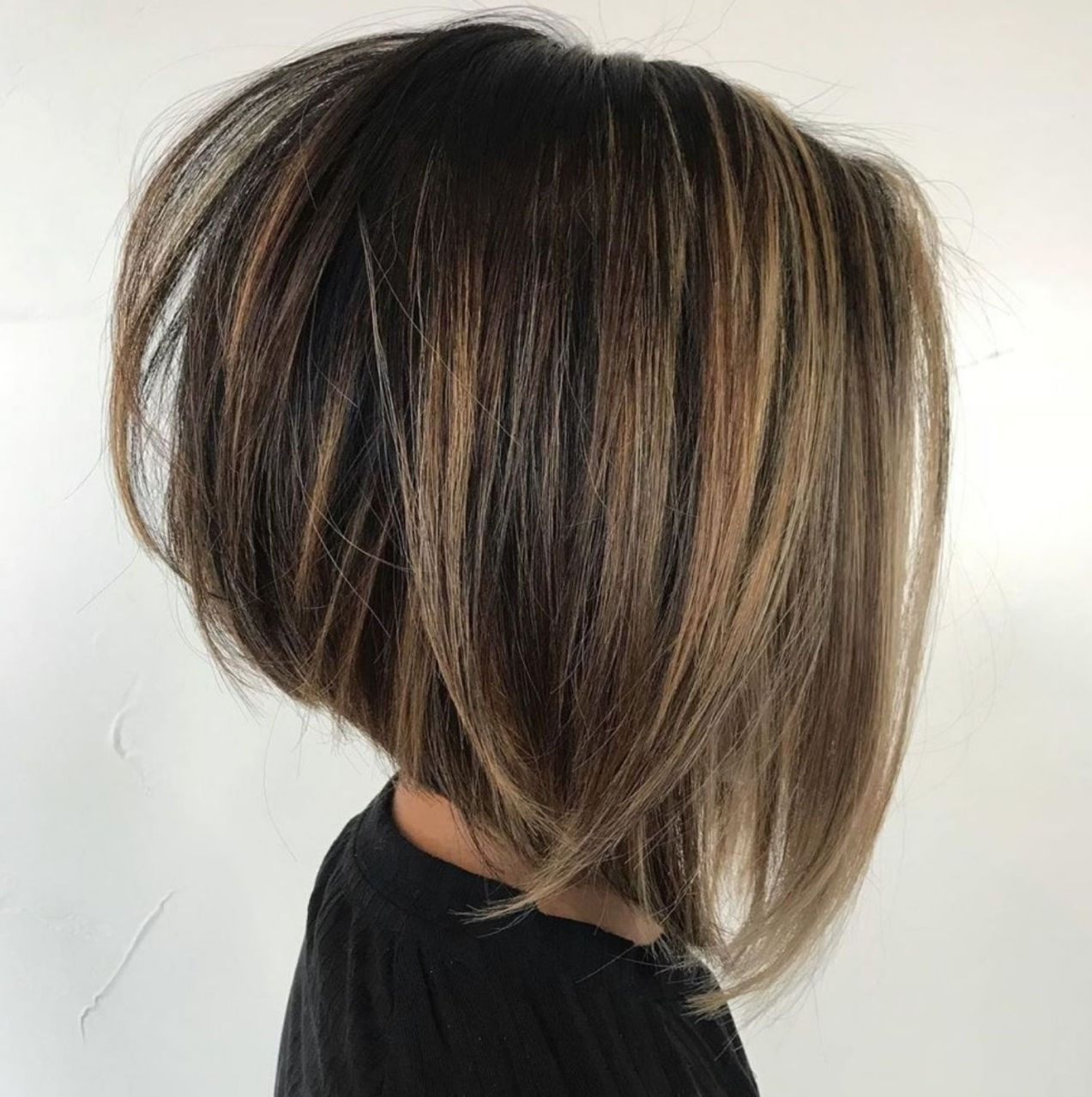 Stacked Bob For Straight Thick Hair In 2020 Haircut For Thick Hair Hair Styles Thick Hair Styles