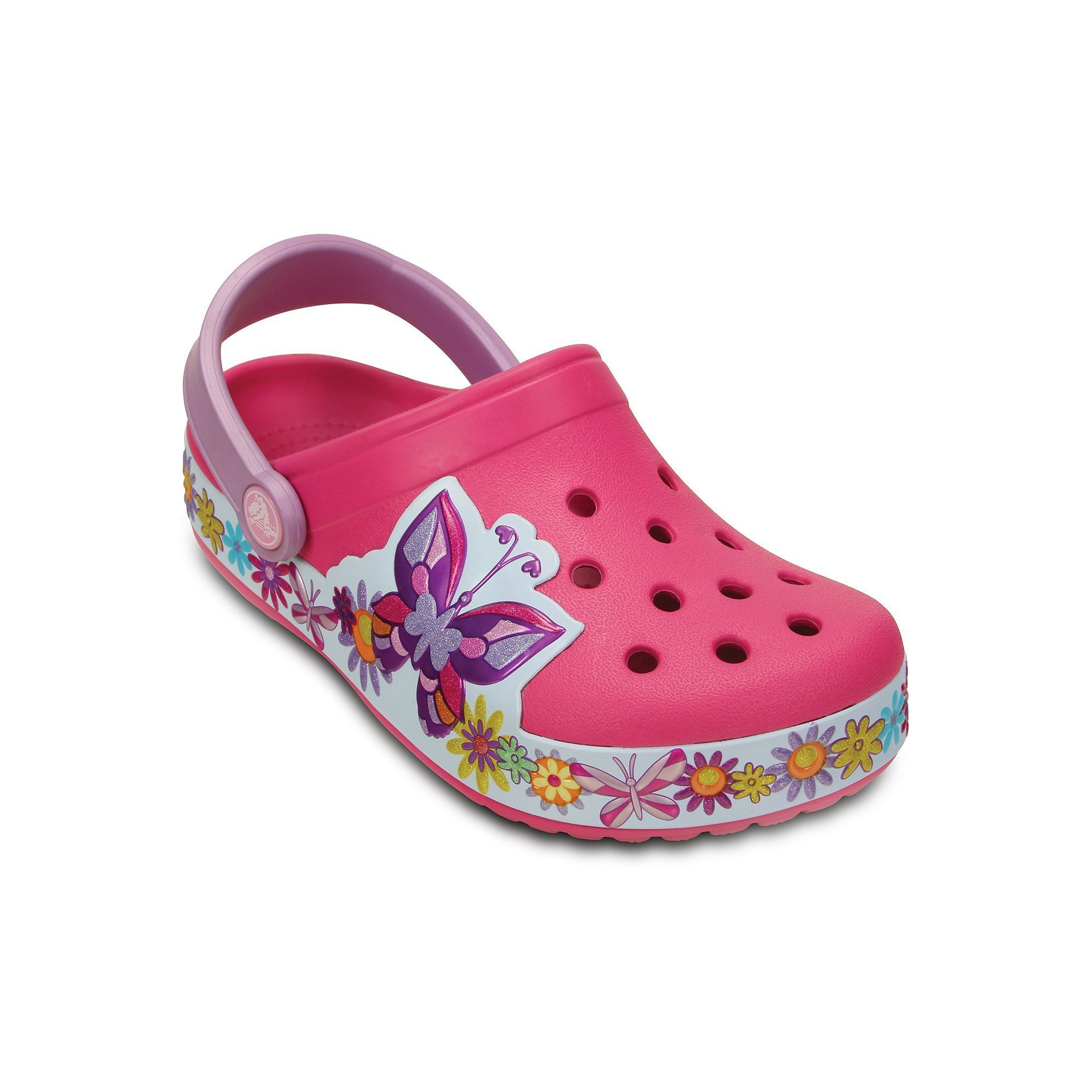 697ae3244177a Crocs Crocband Butterfly Girls  Clogs