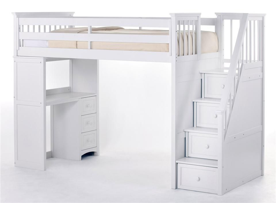 school house stair loft w storage loft beds loft bunk beds bunk bed with desk white loft bed. Black Bedroom Furniture Sets. Home Design Ideas