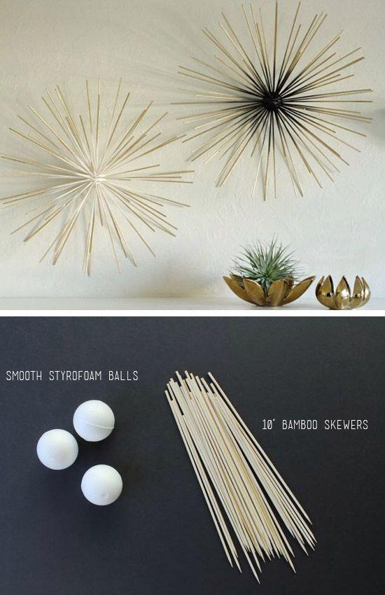 Sticks Foam Wall Art Diy Wall Art Art Diy Room Diy