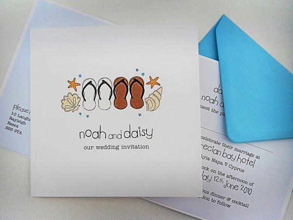 Overseas Beach Wedding Invitation Design Of The Day Ideas Blog