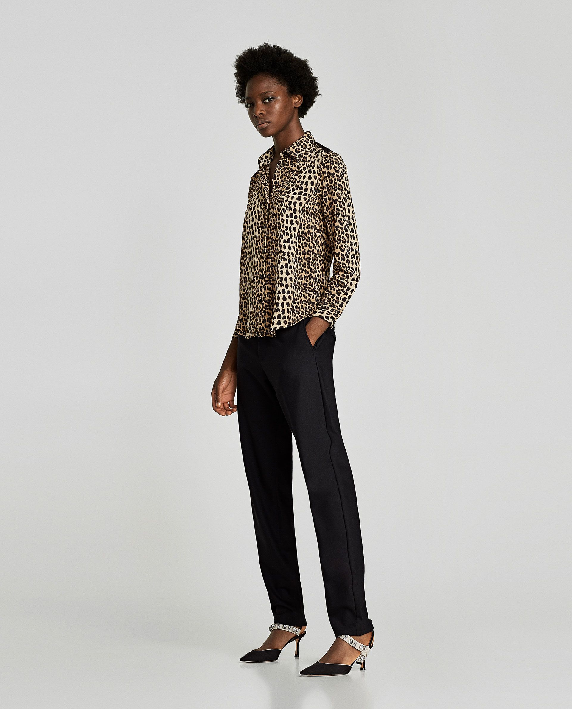 11832eb0 Image 1 of ANIMAL PRINT BLOUSE WITH LACE from Zara | Fashion For the ...