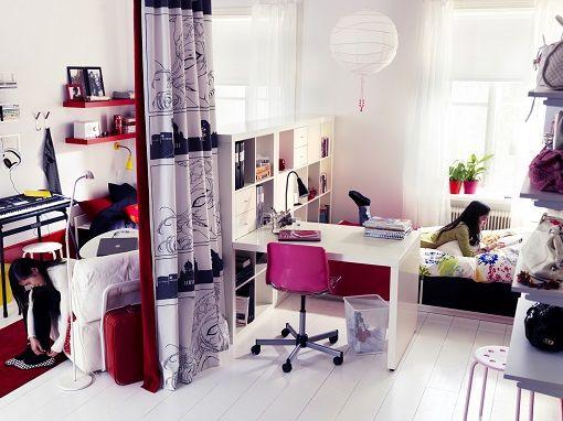 Dormitorio ikea ideas d interiores dividir for Habitaciones juveniles ikea