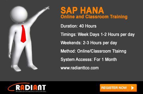 SAP HANA Training in Bangalore: SAP HANA Certification is available ...
