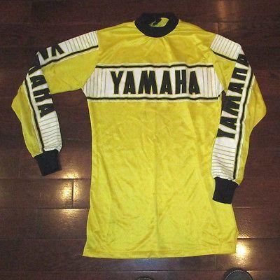 Baja Vtg 80s Yamaha Moto X Motocross Jersey T Shirt Racing Bmx Ama S Xs Padded Motocross Shirts Yamaha Racing Racing Shirts