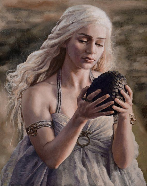Daenerys Targaryen Mother Of Dragons Khaleesi Painting Game Of Thrones Fine Art Print 8x10 Mother Of Dragons Game Of Throne Daenerys In This Moment