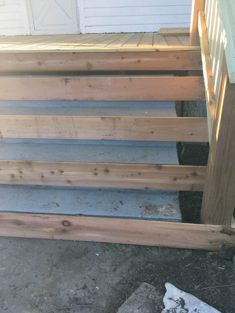 Best How To Cover Concrete Steps With Wood With Images 400 x 300