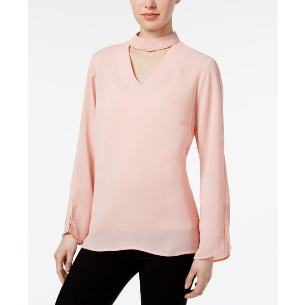Ny Collection Bell Sleeve Choker Blouse 20 Liked On Polyvore