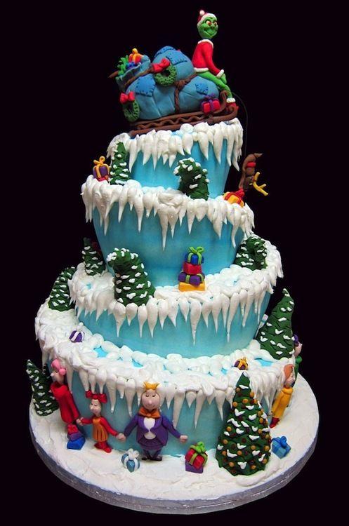 Archiemcphee Ponchatoula Louisiana Based Ms Quinn Christmas Cake Grinch Cake Holiday Cakes