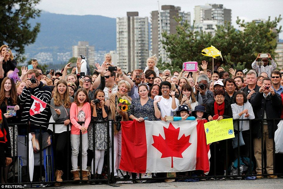 Crowds of cheering supporters gathered at theKitsilano Coast Guard Station to see the vis...