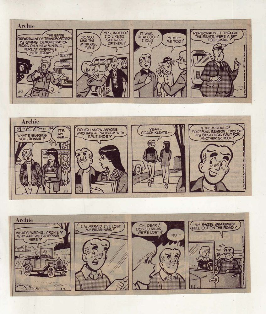Archie comics archie comics sneak peek of the week major spoilers - Archie Jughead Betty Veronica 10 Daily Comic Strips From May 1977