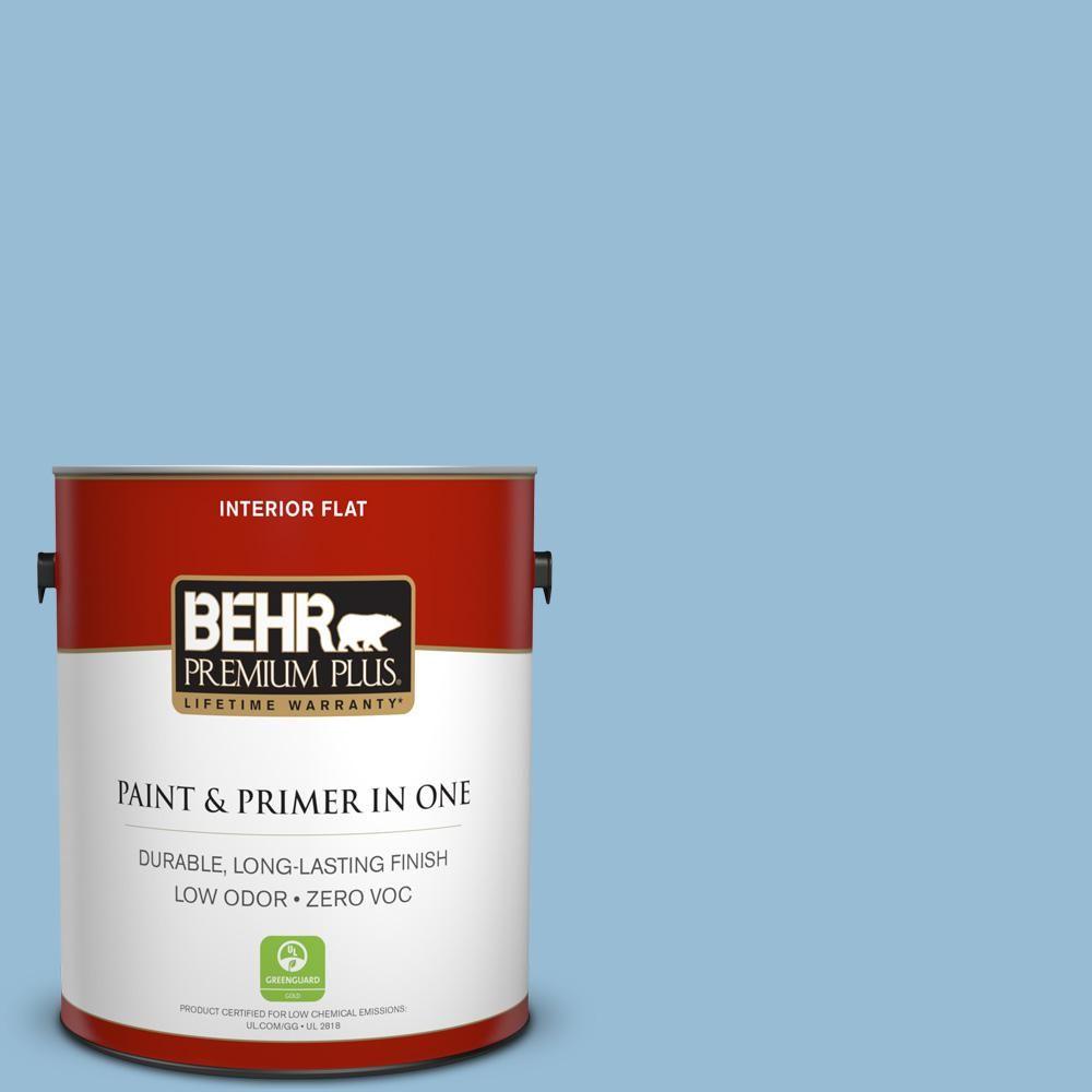 BEHR Premium Plus 1 gal. #PPU14-11 Gentle Sky Zero VOC Flat Interior Paint