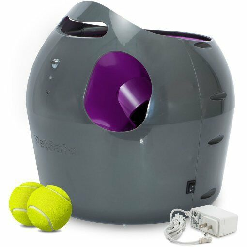 Automatic Pet Trainer Dog Ball Thrower Tennis Launcher Outdoor Interactive Play In 2020 Automatic Ball Launcher Ball Launcher Dog Ball