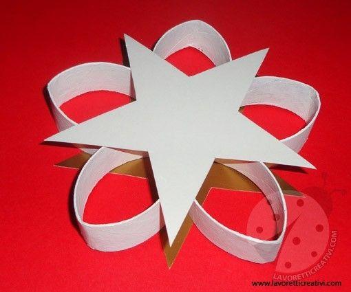 Rotoli Di Carta Igienica Lavoretti Natale : Lavoretti con rotoli di carta igienica stella natale christmas