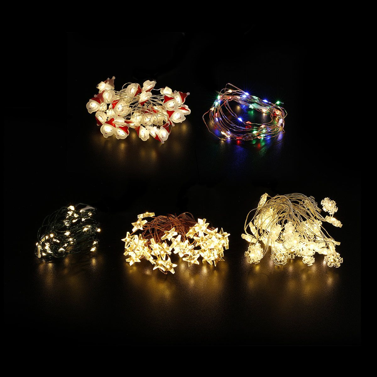 Battery Operated Novelty Wire String Lights Orted Kmart