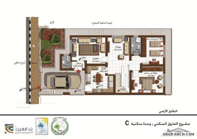 مخطط منزل طابق واحد 200 متر مربع مجمع الفاروق السكنى In 2020 Floor Plans Home