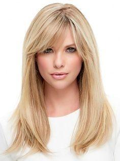 Elegante Frisuren Für Gerade Mittellanges Haar Mit Pony Blond Is