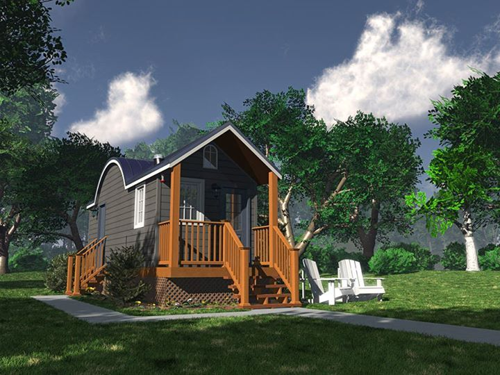 tiny green cabins this one is called the wildflower | living small
