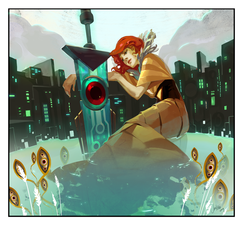 Transistor OST Album Art by JenZee on deviantART