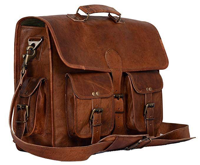 010dd1dc22d8 Leather briefcase laptop bag messenger satchel 16 Inch best Handmade ...