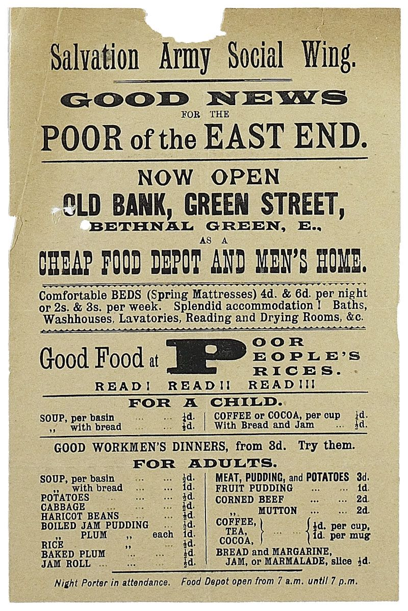 Poster From The Salvation Army 1889 In 2020 Salvation Army