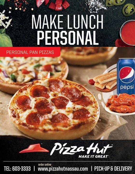 Make Lunch Personal At Pizza Hut Nassau Pizzahut Pizza Lunchtime Pizza Hut Personal Pizza Personal Pizza Pizza Hut
