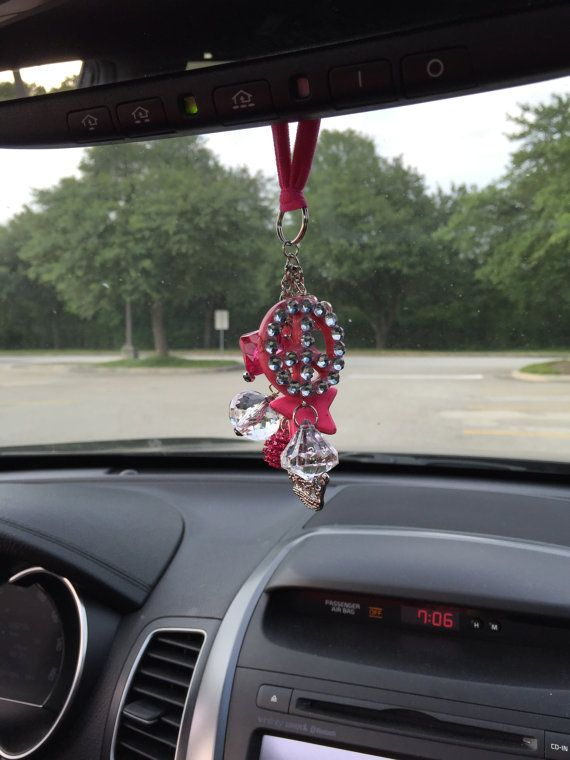 Chunky Rear View Mirror Car Charm Charm ClusterCar by Thebadabling ...
