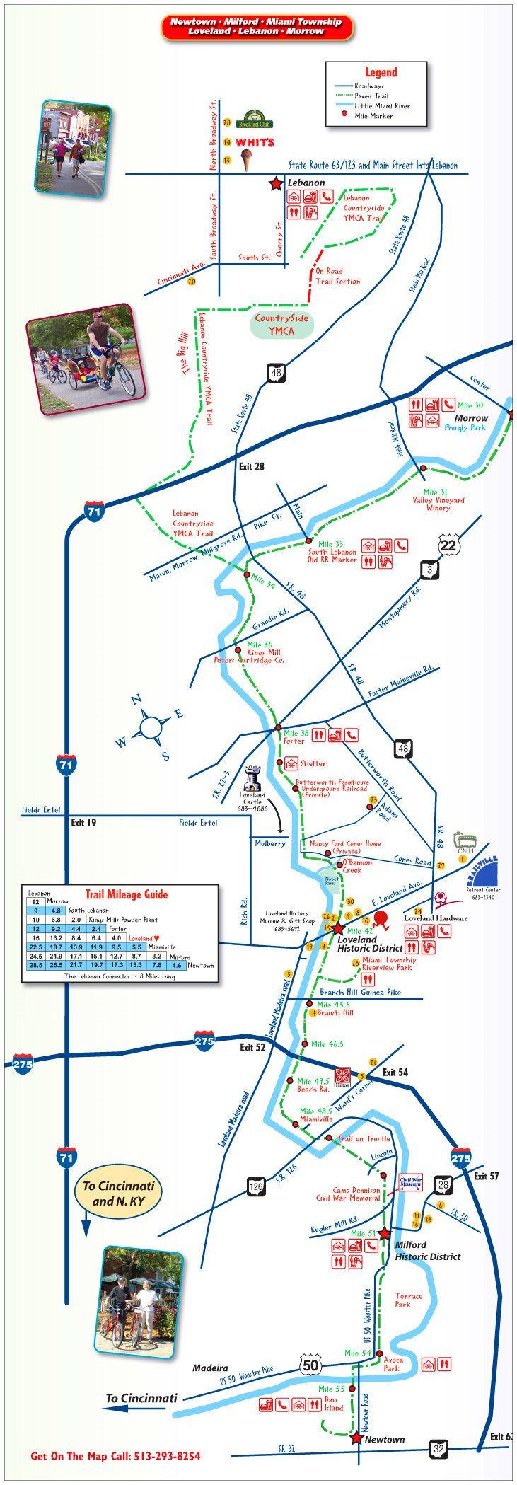Bike Trails In Ohio Map.Ride The Entire Loveland Bike Trail Bucket List Pinterest