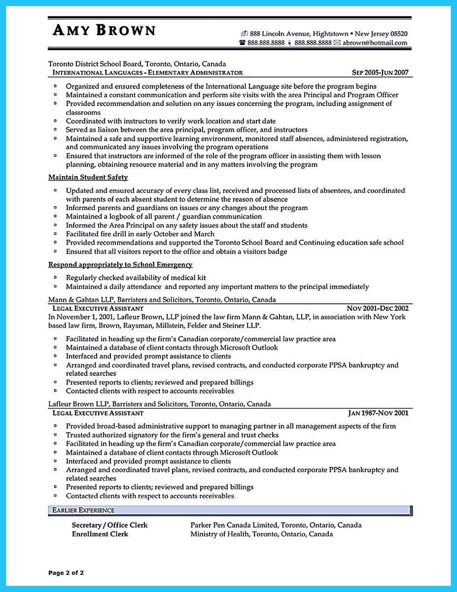 nice Professional Administrative Resume Sample to Make You Get the ...