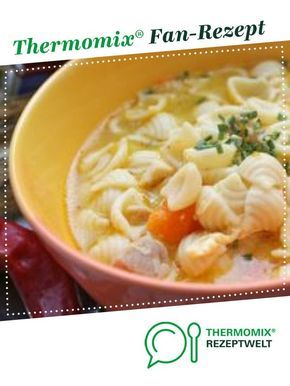 Photo of Homemade chicken soup with noodles