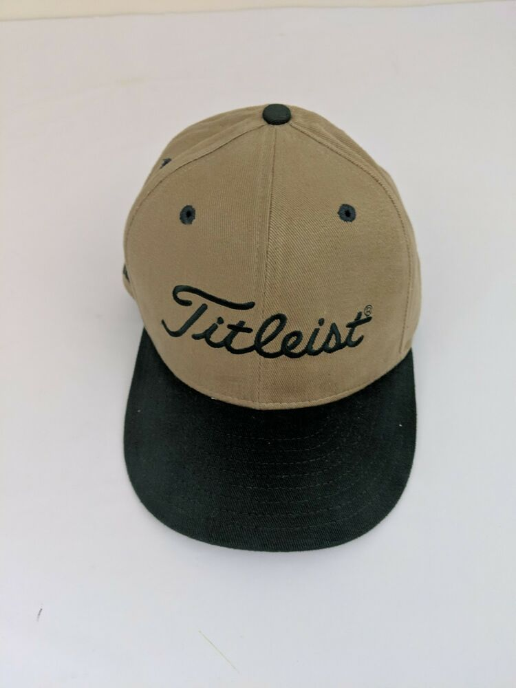 ce0205f0350 Titleist FootJoy FJ New Era Fitted 7 1 2 Golf Hat Cap Spellout Tan Made in  USA  fashion  clothing  shoes  accessories  mensaccessories  hats (ebay  link)