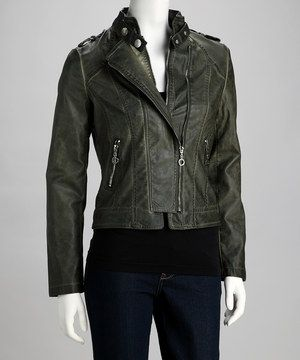 Love this PAPARAZZI Army Snap Collar Jacket by PAPARAZZI on #zulily! #zulilyfinds only $50 not bad