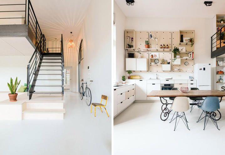 Mobili Nordici ~ Loft stile nordico amsterdam scala nera sala da pranzo mobili su