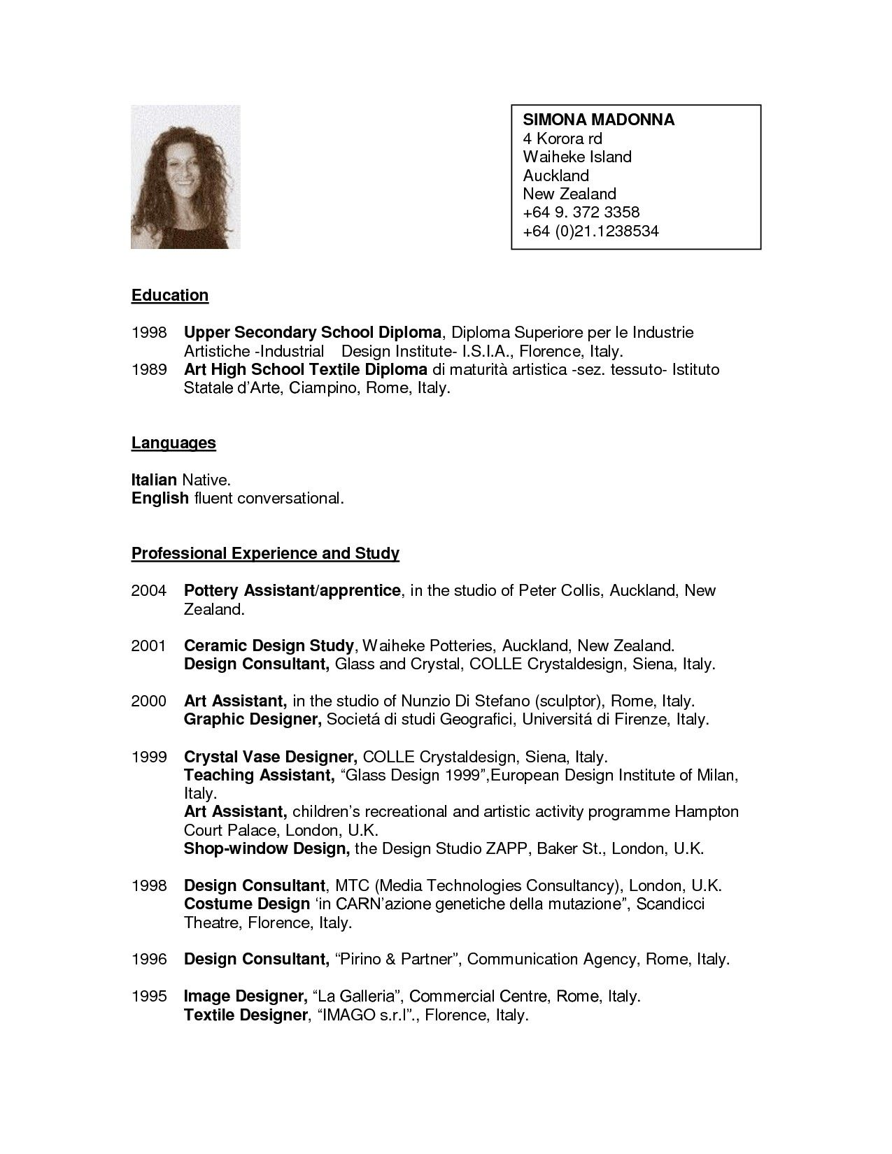 Curriculum Vitae Template New Zealand Free Resume Template Seek
