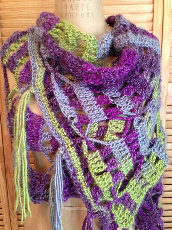 New Free Crochet Pattern: Boho Wrap! | Pinterest | Tejer bufandas ...