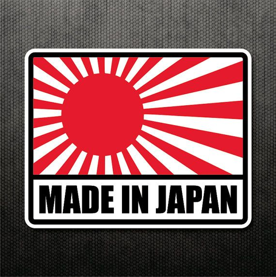 Made in japan rising sun sticker vinyl decal japanese flag sticker jdm decal car truck motorcycle sticker fits honda mazda subaru