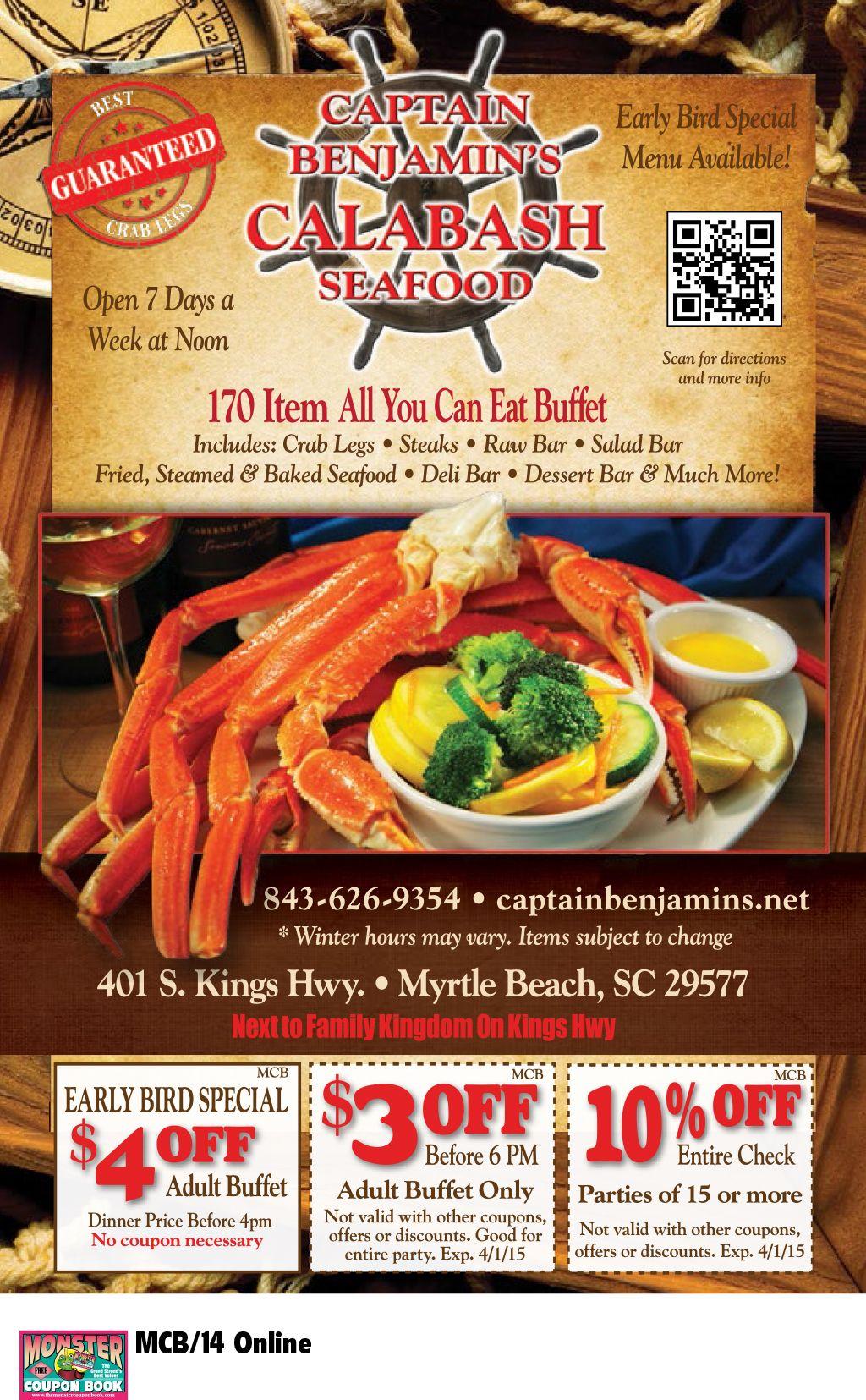 Captain Benjamin S Calabash Seafood Myrtle Beach Resorts Myrtle Beach Resorts Calabash Seafood Myrtle Beach