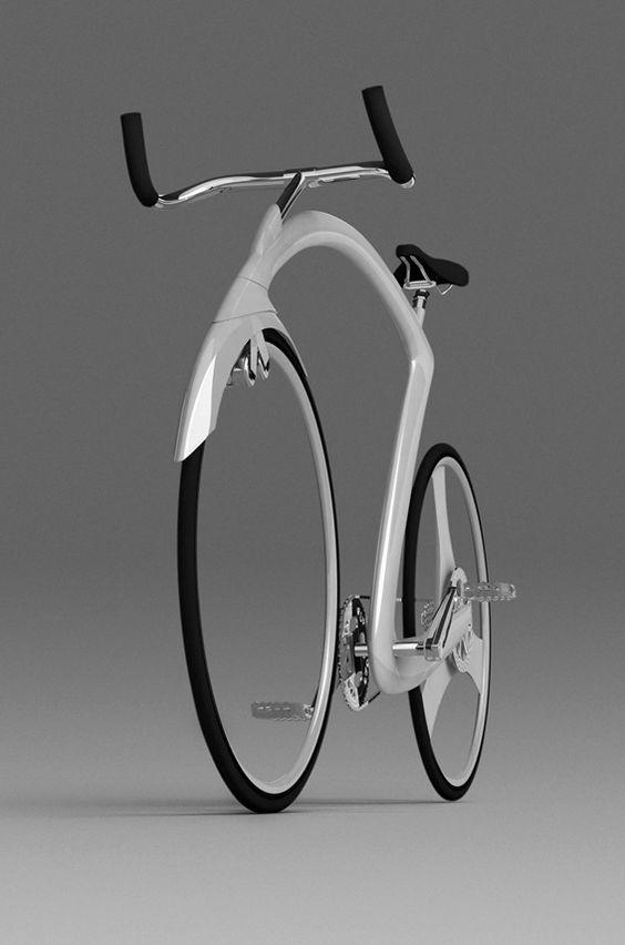 今週の自転車写真 Bicycle Photo 20160610 ホイールにスポークの無い奇形自転車 自転車 自転車のデザイン 自転車 ロードバイク